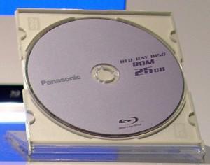 fotografia di un disco Blu-Ray da 25 GB