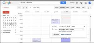 schermata con il calendario di Gmail