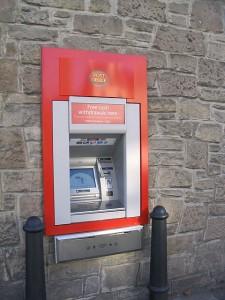 Foto di un bancomat