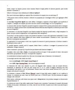 Pagina di testo scritto usando allinemento giustificato