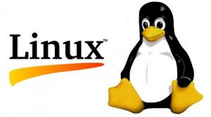 Logo di Linux con il pinguino contento e la scritta Linux