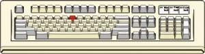 Tastiera dove è colorato in rosso il tasto che contiene lo Slash