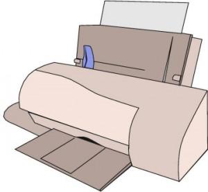Disegno schematico di una stampante da tavolo