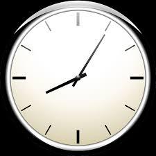 immagine di un orologio che segna le 8:05