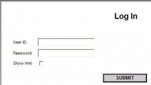 figura di una finestra di log-in ad una applicazione