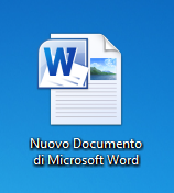 Icona di un documento Word 2010