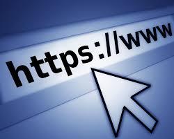 Disegno di una freccia che indica la scritta https in una barra dell'indirizzo di un browser