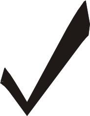 disegno di un segno di spunta nero