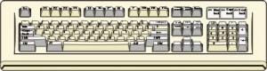 Disegno di una tastiera con anche il tastierino numerico