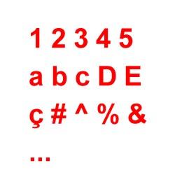 Figura con numeri, lettere, e caratteri speciali
