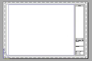 Foglio di CAD con evidenziato il cartiglio