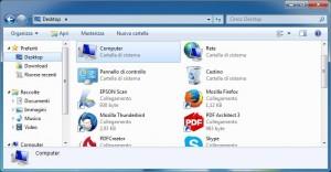 Schermata di windows con aperto esplora risorse