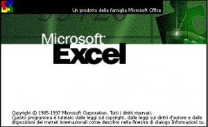 Immagine schermata iniziale di Excel