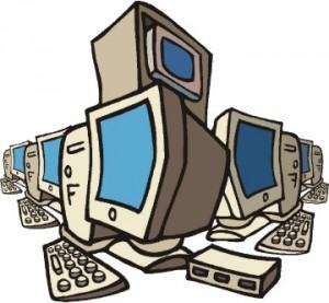 Figura con tanti computer