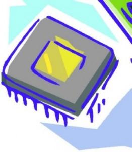 Disegno schematico di un Chip di memoria ROM