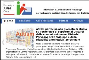 Home page del sito di ASPHI