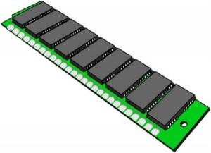 Disegno di una scheda di memoria RAM
