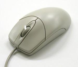 Mouse con freccia che indica la rotellina