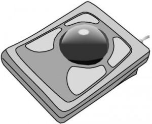disegno di una Trackball