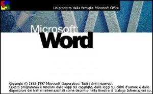 Schermata con logo di Word 2003