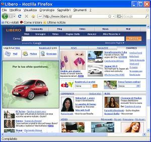 Home page di Libero.it