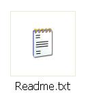 Icona di un file di testo Readme.txt