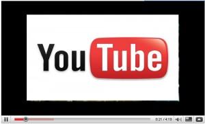 Schermata con logo di You Tube