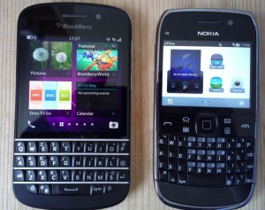 immagine di due smartphone Blackberry
