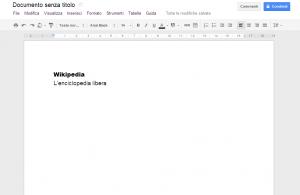 esempio di elaborazione con Google Document