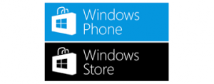 logo di Windows Phone e Windows store